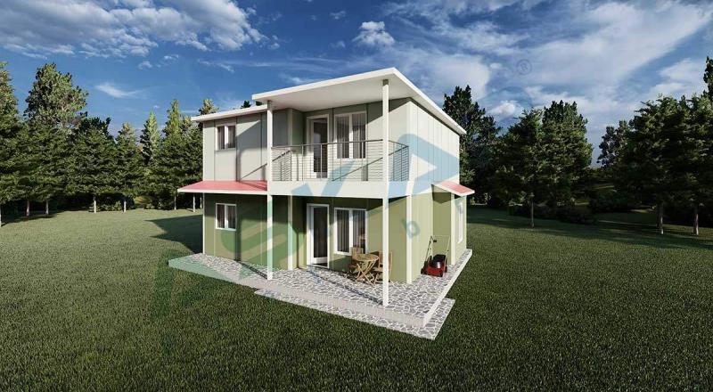 iki katlı prefabrik ev modelleri