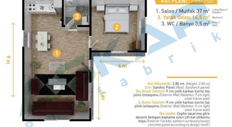 izmir modüler ev modelleri