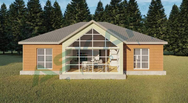 tek katlı çelik ev izmir