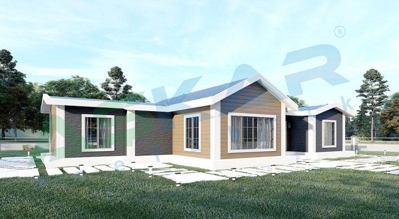 tek katlı çelik ev modelleri