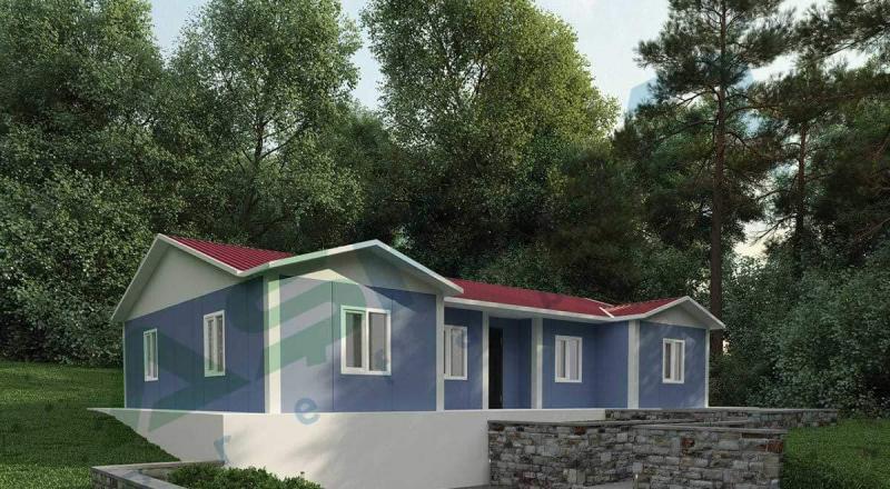 tek katlı prefabrik ev modelleri
