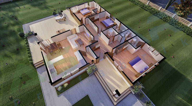 150 metrekare çelik ev