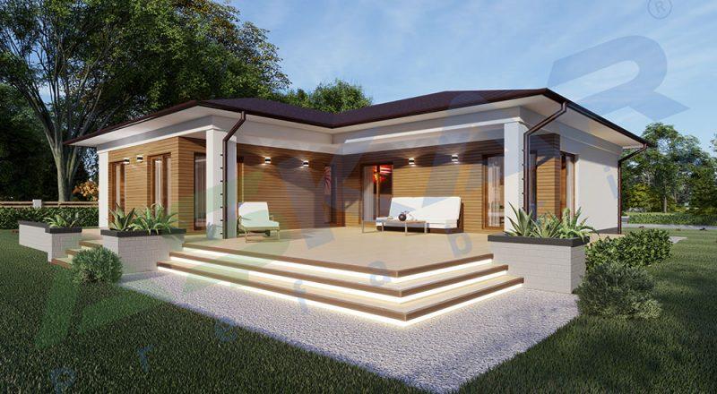 150 metrekare çelik ev modeli