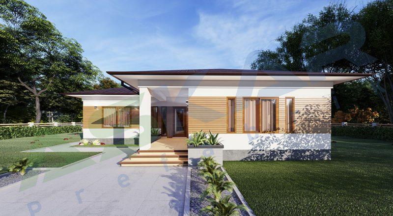 tek katlı çelik ev modeli 150 metrekare