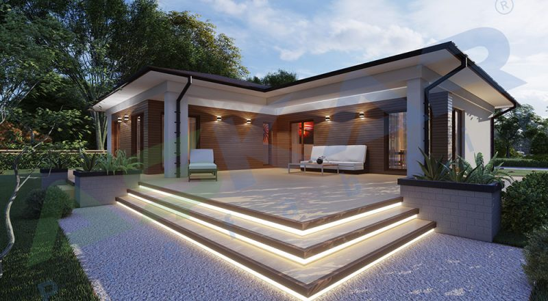 tek katlı çelik ev modeli
