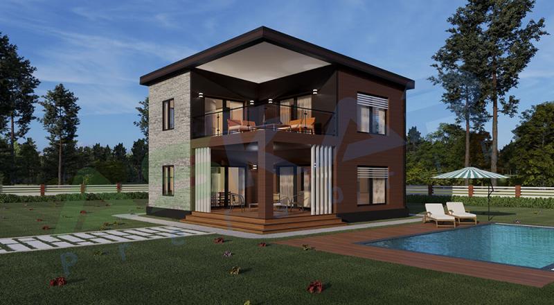 174 m iki katlı modüler ev izmir