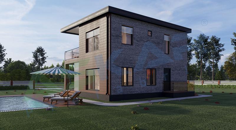 iki katlı modüler ev