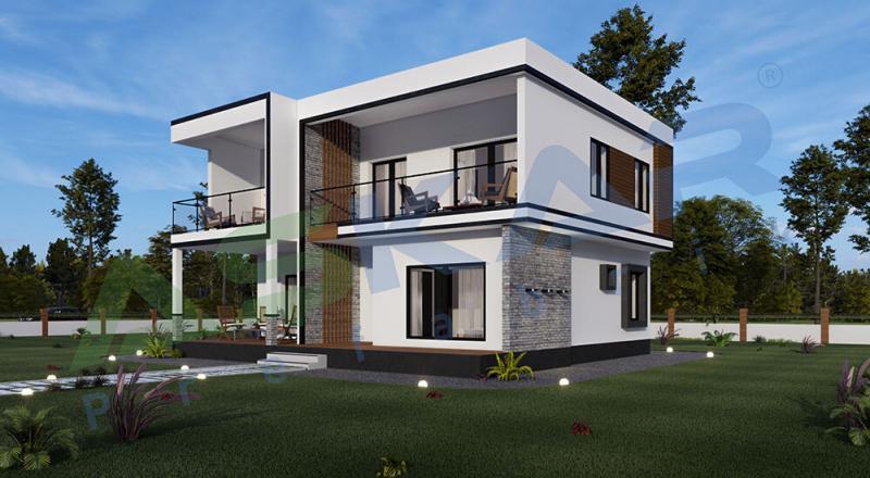 dubleks modüler çelik ev