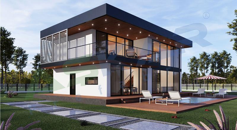 dubleks moduler çelik ev