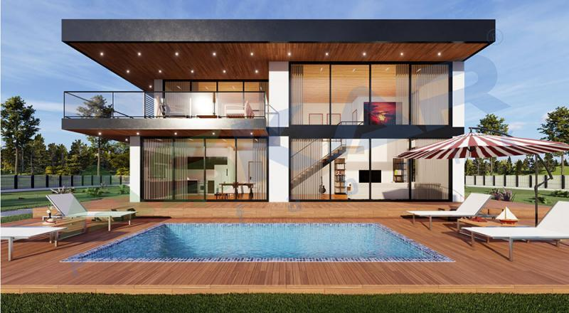 dubleks moduler çelik evler