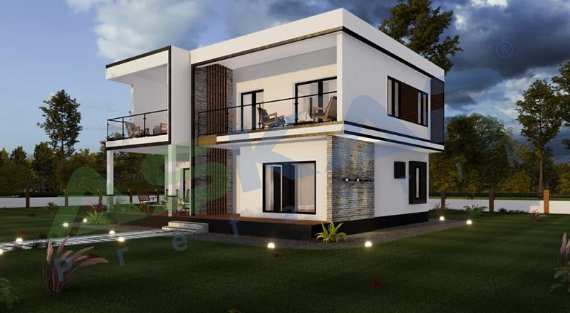 dubleks modüler ev