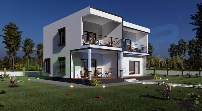 iki katlı modüler çelik ev