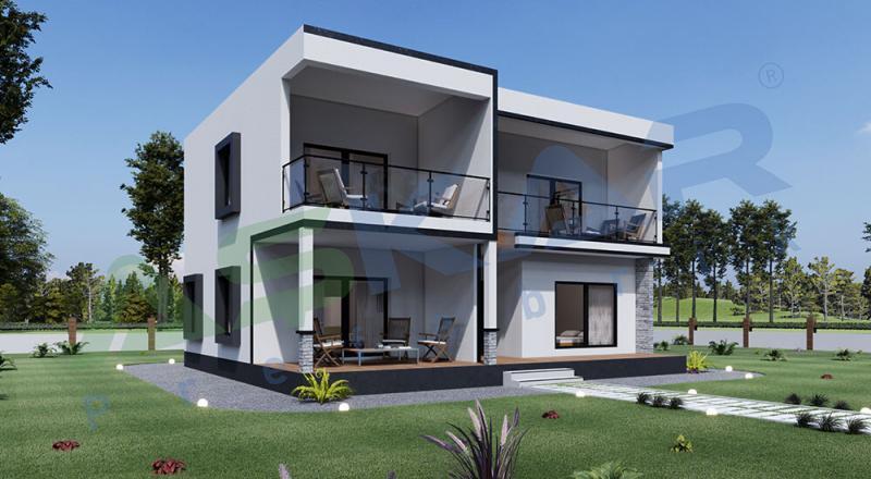 iki katlı moduler ev
