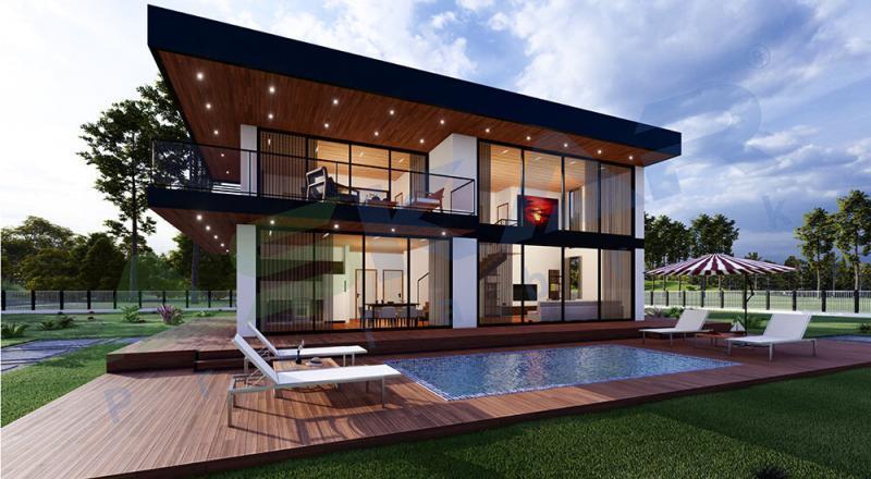 iki katlı modüler evler