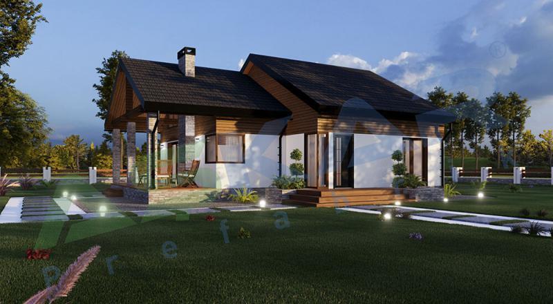 izmir tek katlı çelik ev modeli