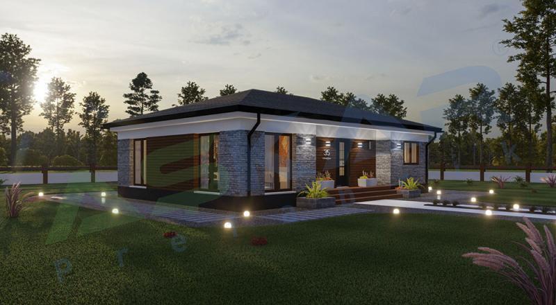tek katlı çelik ev