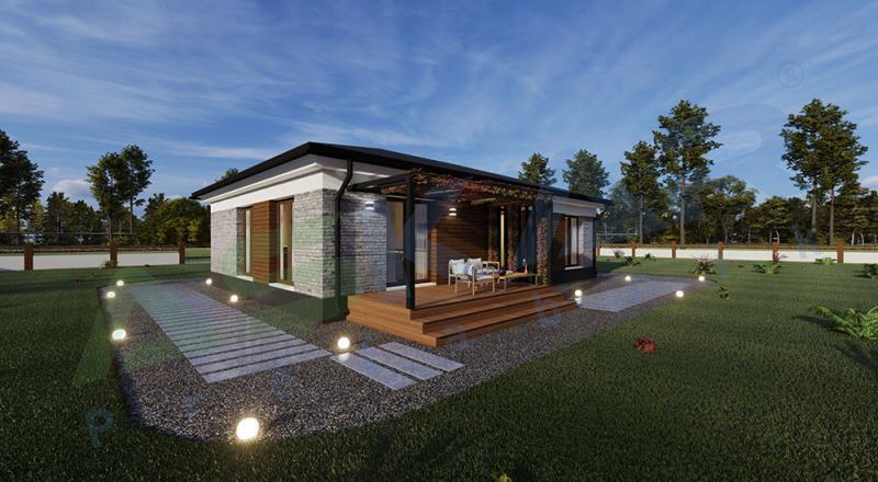 tek katlı çelik evler