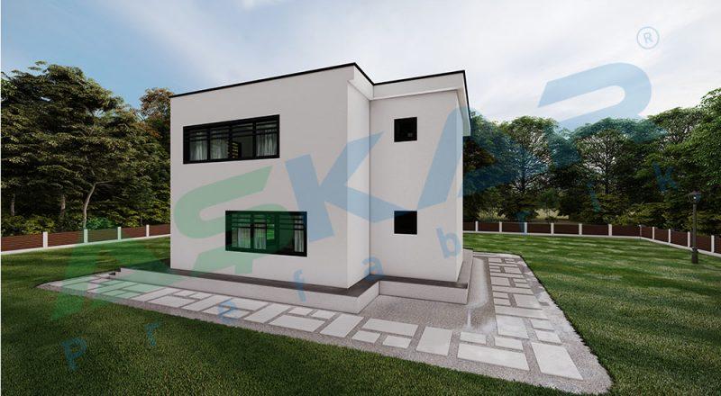 iki kat dubleks modul çelik ev-izmir