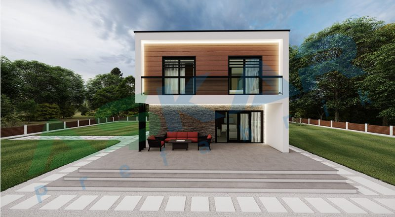 iki kat dubleks modul çelik ev
