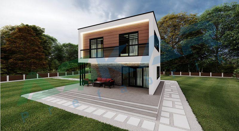 iki kat modul çelik ev