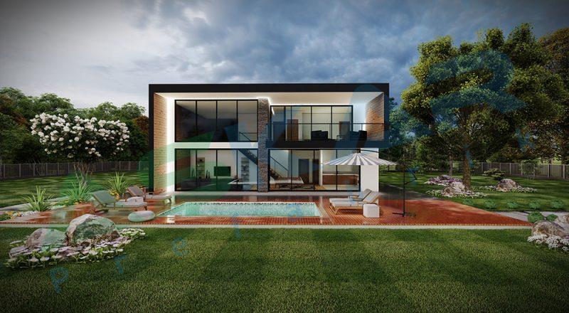 iki kat modüler çelik ev