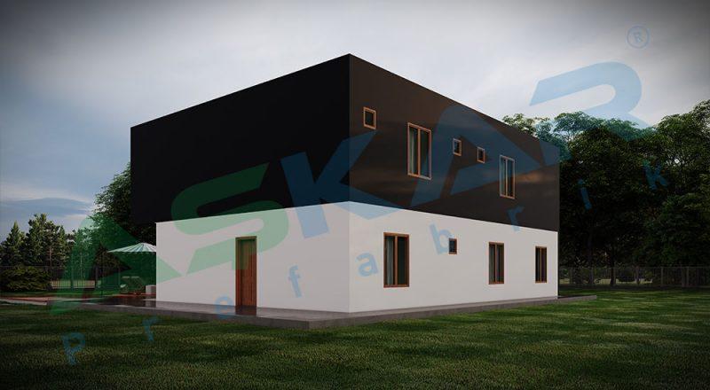 iki kat modüler ev