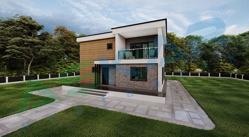 iki katlı çelik ev