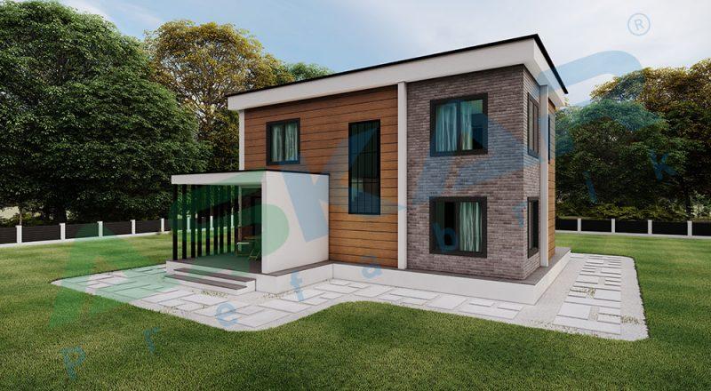iki katlı çelik modul ev