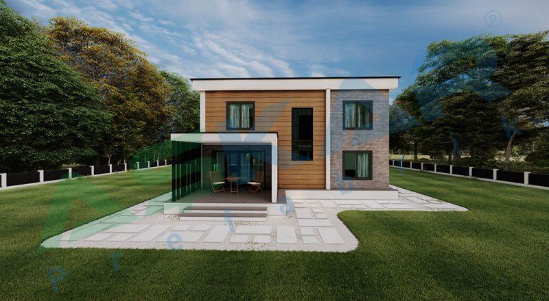 iki katlı modul ev