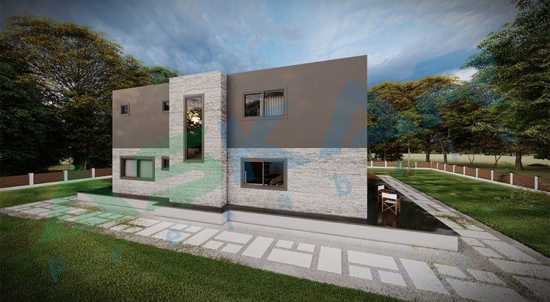 moduler çelik dubleks ev