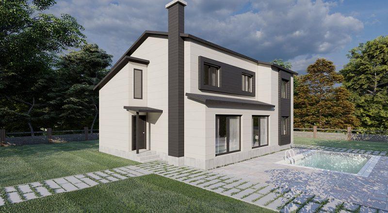 dubleks çelik ev