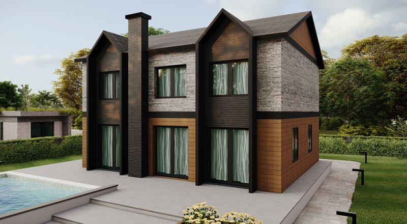 dubleks çelik ev modeli