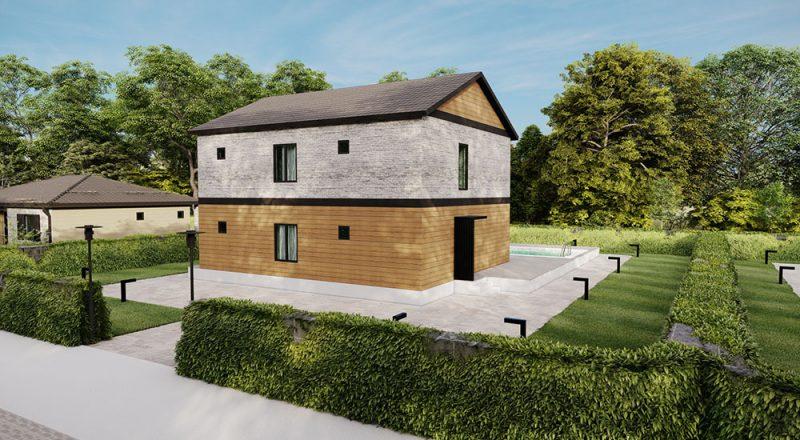 iki katlı çelik ev modeli