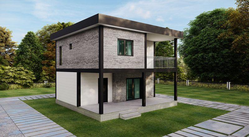 iki katlı modül ev