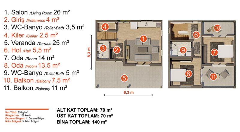 modül ev planı